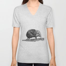 Black Shrew Unisex V-Neck