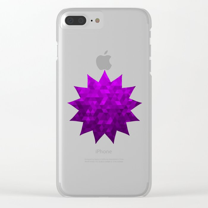 Kwan Yin's Star | Purple Flame | Compassion Clear iPhone Case