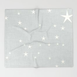 Grey star with fabric texture - narwhal collection Throw Blanket