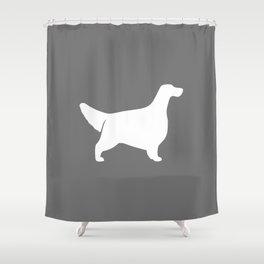 White English Setter Silhouette Shower Curtain