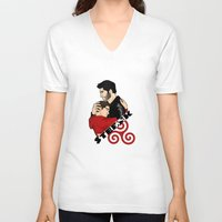 sterek V-neck T-shirts featuring Sterek by adorible