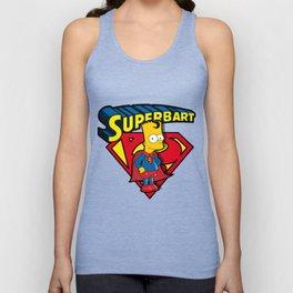 Superbart: the Simpsons superheroes (Bart Simpson meets Superman) Unisex Tank Top