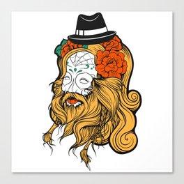 Bearded Women Girl Canvas Print