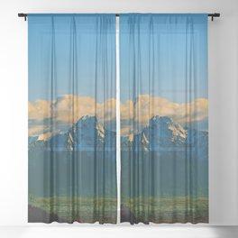 Pioneer Peak - Mat-Su Valley Sheer Curtain
