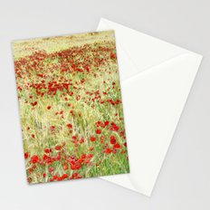 Windy poppies Stationery Cards