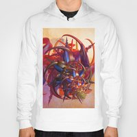 sci fi Hoodies featuring Sci-fi insect by Gaspar Avila