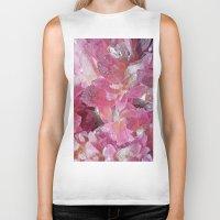 minerals Biker Tanks featuring Pink Gemstone by Kristiana Art Prints