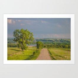 Country Road, North Dakota 4 Art Print