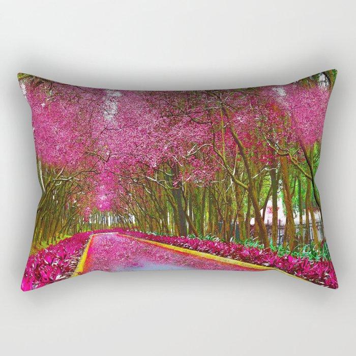 CHERRY BLOSSOMS SPRING Rectangular Pillow