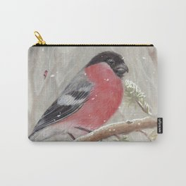 Bullfinch and Gnome-girl - Christmas Carry-All Pouch