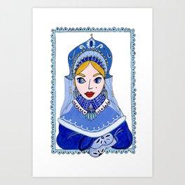 Snegurochka Art Print
