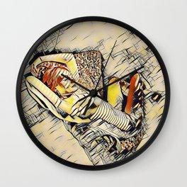 4248s-JG Beautiful Jessica Striped Nude Erotica in the Style of Kandinsky Wall Clock