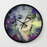 marilyn Wall Clocks featuring Marilyn by Esco