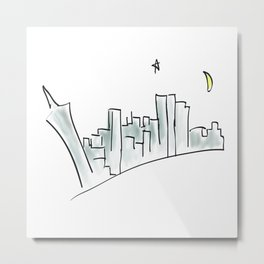 Far Away From The Neon Sky Metal Print