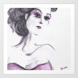 Fashion Illustration Portrait  Art Print