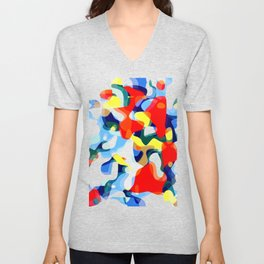 Abstract Avalanche Unisex V-Neck