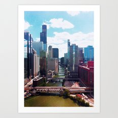 Chicago River View II Art Print