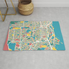San Francisco Map Art Rug