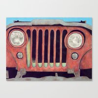 jeep Canvas Prints featuring Jeep by Shannon Rutherford