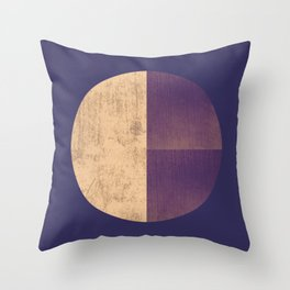Black and Gold Circle 42 Throw Pillow