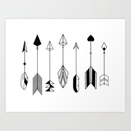 Be Brave Little Arrow Art Print