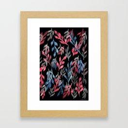 180726 Abstract Leaves Botanical Dark Mode 2 |Botanical Illustrations Framed Art Print