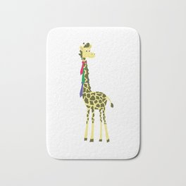 Giraffes spend a lot on ties... Bath Mat