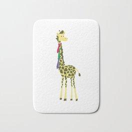 Giraffes spend a lot on ties... Bath Mat