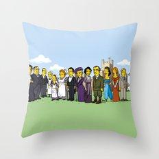 Downton Abbey cast Throw Pillow