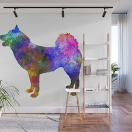 Greenland Dog in watercolor 2 Wall Mural
