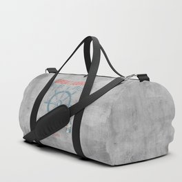 Maritime Design- Great Journey Ocean Adventure on gray abstract background Duffle Bag