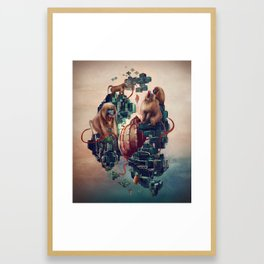 monkey temple Framed Art Print