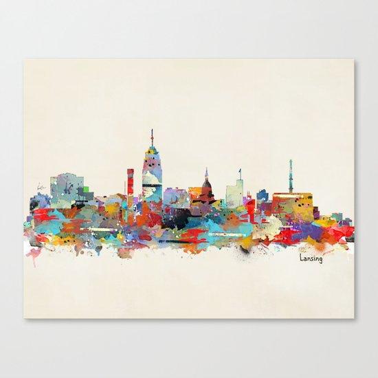 Lansing Michigan skyline Canvas Print