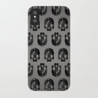 low poly iPhone & iPod Cases featuring Black skull low poly by Daniel Delgado