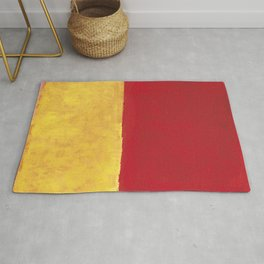 Rothko Red Yellow Untitled Rug