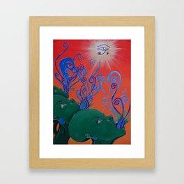 Green Gods Framed Art Print