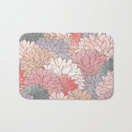 Hydrangea Haven - Muted Colors Bath Mat