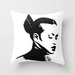 Cassie in Monochrome  Throw Pillow