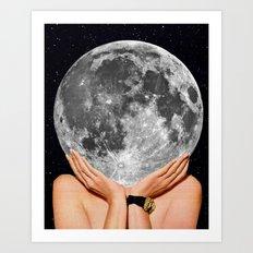 La luna - moon art Art Print
