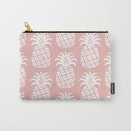 Retro Mid Century Modern Pineapple Pattern Dusty Rose 2 Carry-All Pouch