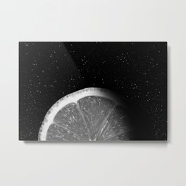 Waning Gibbous Lemon Moon Metal Print