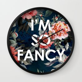 I'm So Fancy Iggy Azalea Inspired Watercolor Blush Peonies Art Print Wall Clock
