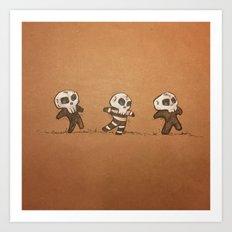 Little Skull Men Art Print