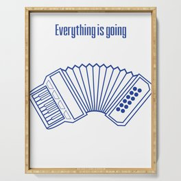 Accordion Accordionist T Shirt Gift Everything is going accordion to plan Serving Tray