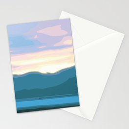 Candy Colors Sunset in Death Valley, California - Teal, Blue, Pink, Violet, Green, Yellow Stationery Cards