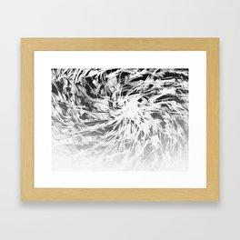 B&W Abstract Spiral Framed Art Print