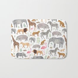 Safari Animals Bath Mat