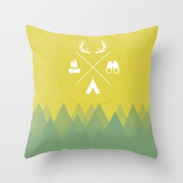 Let's Camp Out Throw Pillow
