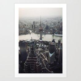 Shanghai Skyscrapers Art Print