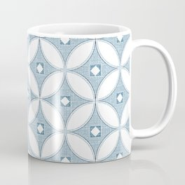 Gray circle Mid Century design , grey textures Coffee Mug